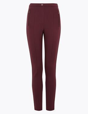 Kadın Mor Jarse Skinny Pantolon
