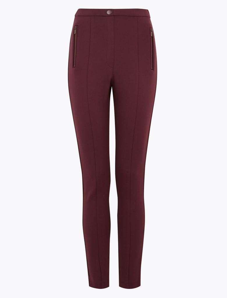 Kadın Bordo Jarse Skinny Pantolon