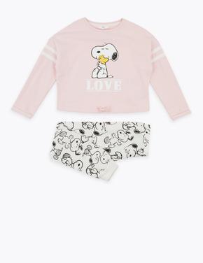 Çocuk Beyaz Snoopy™ Pijama Takımı