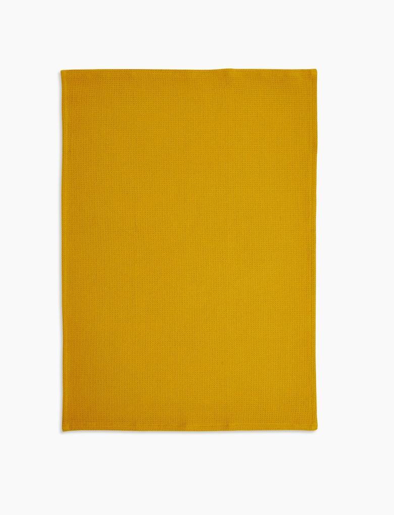 Ev Sarı 3'lü Saf Pamuklu Kurulama Bezi Seti