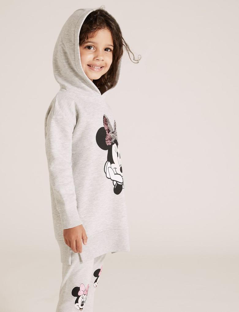 Kız Çocuk Gri Minnie Mouse ™ Sweatshirt Elbise
