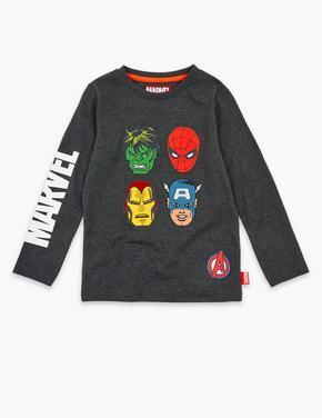 Erkek Çocuk Gri Marvel Avengers™ Pamuklu Sweatshirt