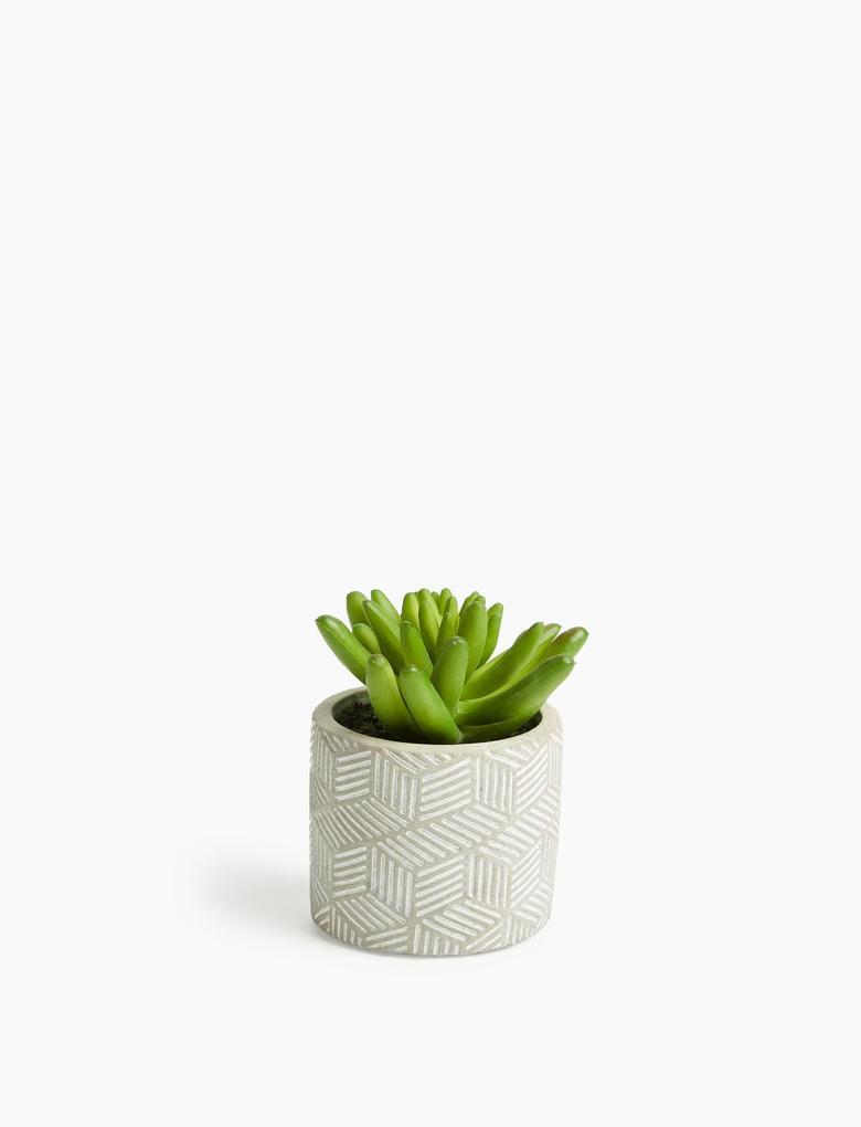Ev Yeşil Mini Dekoratif Çiçek