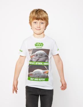 Erkek Çocuk Beyaz Star Wars™ Kısa Kollu T-Shirt