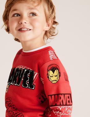 Erkek Çocuk Kırmızı Marvel Superheroes™ Sweatshirt