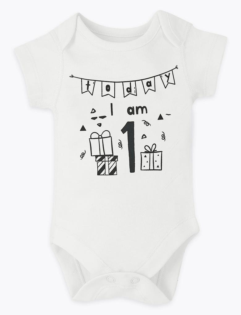 Bebek Beyaz 12'li Saf Pamuklu Aylık Body Seti
