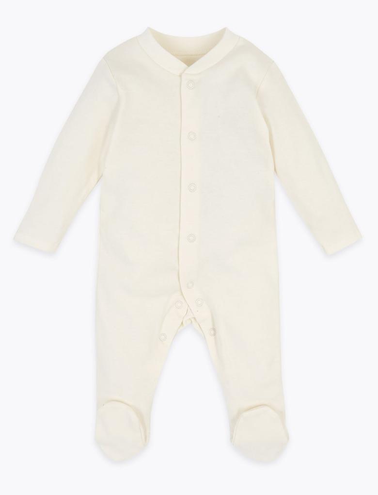 Bebek Beyaz 5'li Organik Pamuklu Bebek Seti