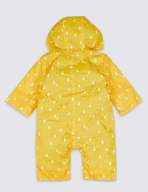 Bebek Sarı Ördekli Kapüşonlu Tulum