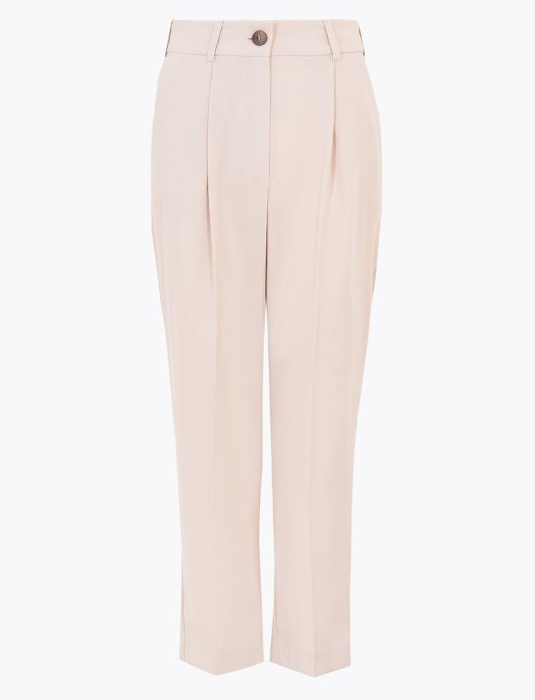 Kadın Bej Tapered Leg 7/8 Pantolon
