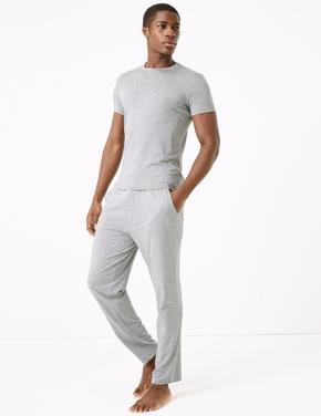 Erkek Gri Premium Pamuklu Pijama Altı