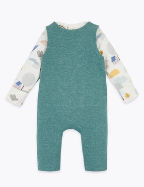 Bebek Beyaz Salopet ve Body Takımı