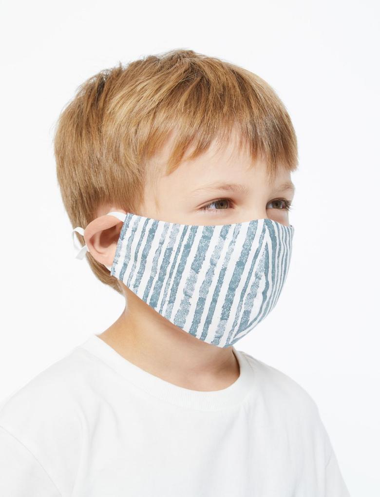 Ev Multi Renk 5'li Yıkanabilir Çocuk Yüz Maskesi