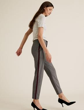 Kadın Siyah Tapered Ankle Grazer Pantolon