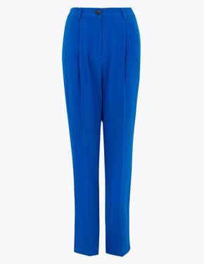 Kadın Mavi Tapered Fit 7/8 Pantolon