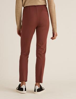 Kadın Turuncu Slim Fit Ankle Grazer Pantolon