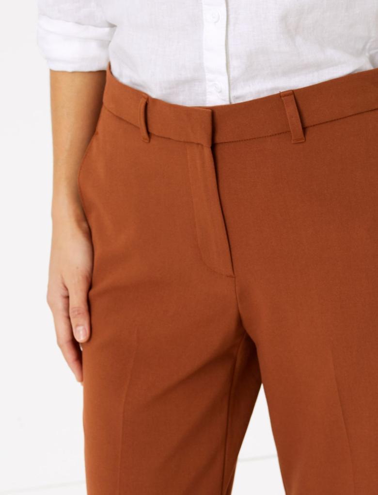 Kadın Kahverengi Wide Leg Pantolon