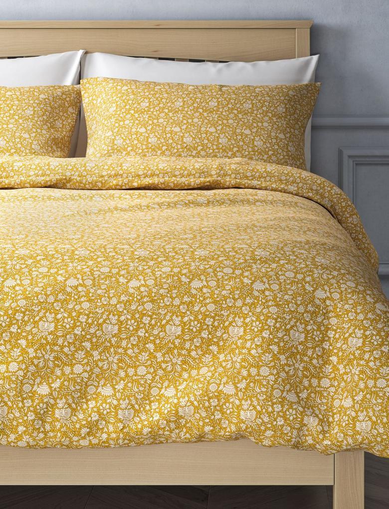 Ev Sarı Desenli Nevresim Takımı