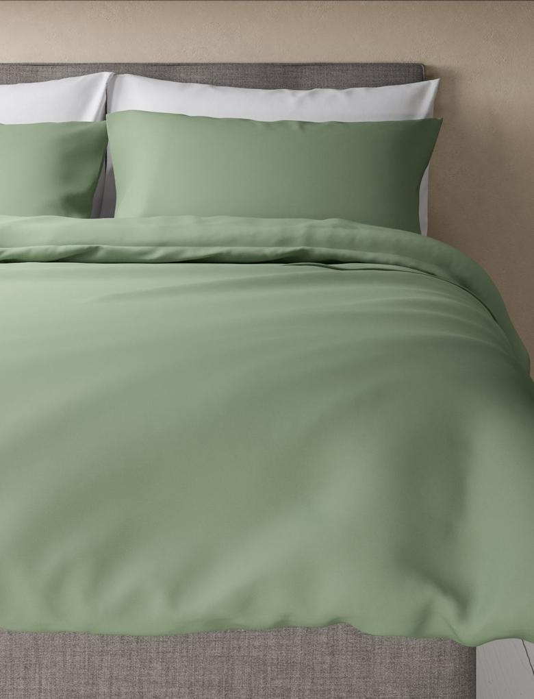 Ev Yeşil Saf Egyptian Cotton (Mısır Pamuğu) Yorgan Kılıfı