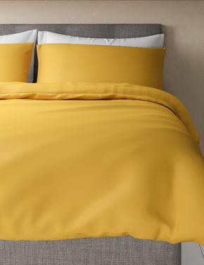 Ev Sarı Percale Kumaş Yorgan Kılıfı