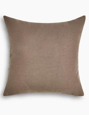 Ev Kahverengi Düz Renk Yastık