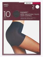 Kadın Siyah 2'li 10 Denye İnce Külotlu Çorap Seti
