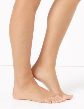 Kadın Kahverengi 5 Denye Görünmez Parmak Uçlu Külotlu Çorap