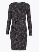 Kadın Siyah Beli Burgulu  Elbise