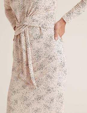 Kadın Mor Beli Burgulu  Elbise