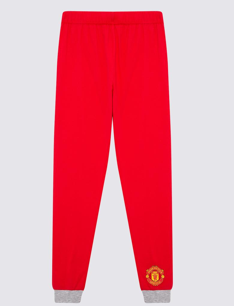 Çocuk Kırmızı Manchester United Pijama Takımı