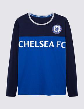 Çocuk Mavi Chelsea FC Pijama Takımı