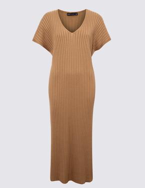 Kadın Kahverengi Fitilli Elbise
