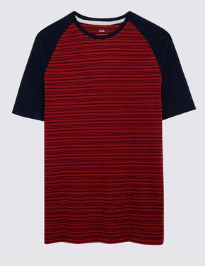 Erkek Kırmızı Çizgili Pijama Takımı