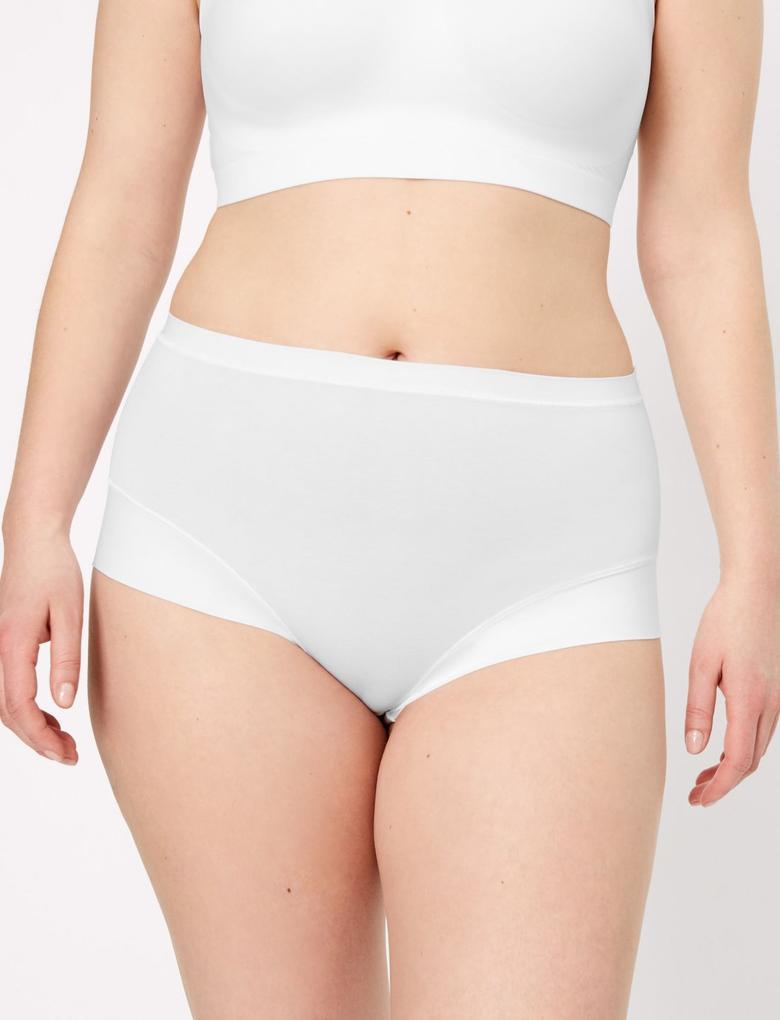 Kadın Beyaz Flexifit™ Modal Full Brief Külot