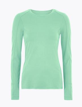 Kadın Yeşil Performance Uzun Kollu T-Shirt