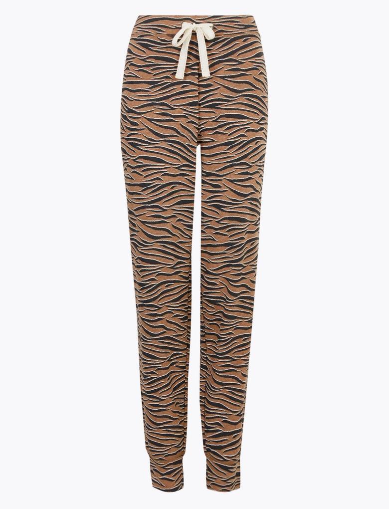 Kadın Kahverengi Jarse Pijama Altı