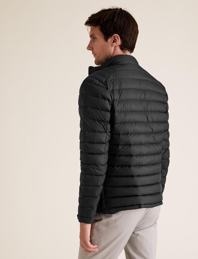 Siyah Hafif Kaz Tüyü (Down ve Feather) Mont (Stormwear™ Teknolojisi ile)