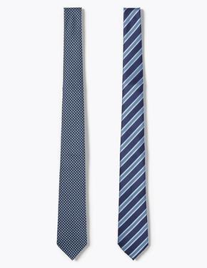 Mavi 2'li Kravat Seti
