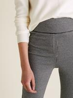Kadın Siyah Ekose Skinny Ankle Grazer Pantolon