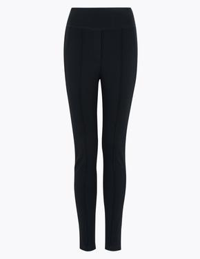 Kadın Lacivert Jarse Skinny Ankle Grazer Pantolon