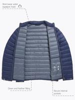 Lacivert Hafif Kaz Tüyü (Down ve Feather) Mont (Stormwear™ Teknolojisi ile)