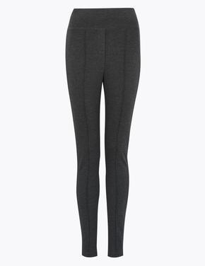 Kadın Gri Jarse Skinny Ankle Grazer Pantolon