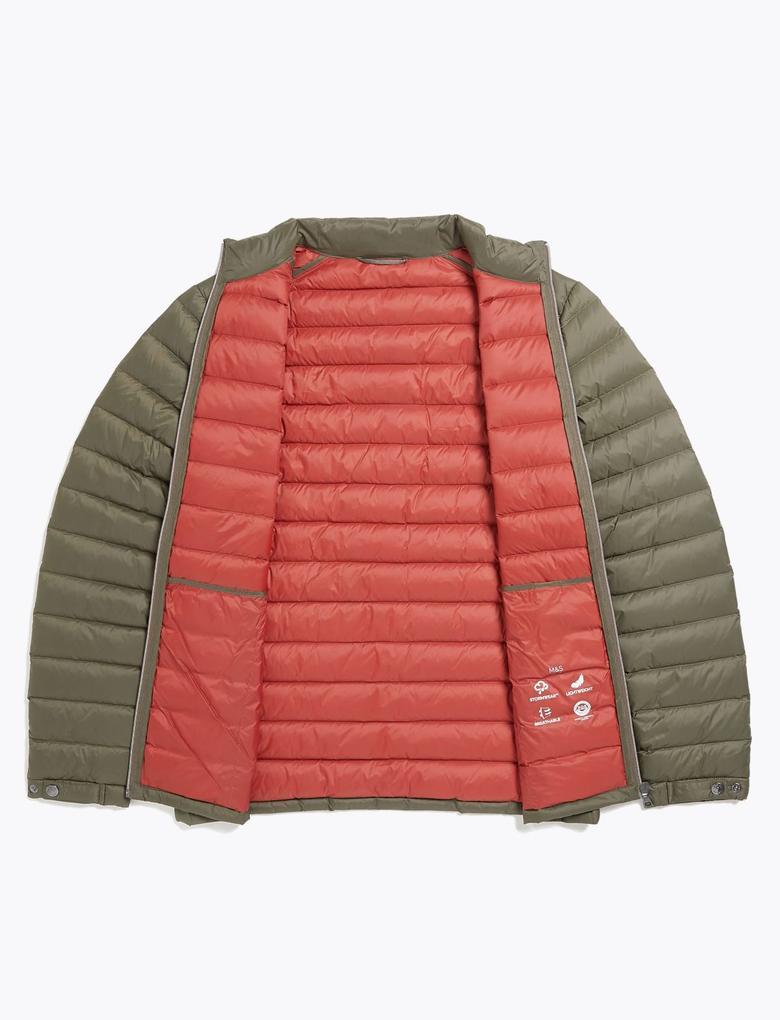 Yeşil Hafif Kaz Tüyü (Down ve Feather) Mont (Stormwear™ Teknolojisi ile)