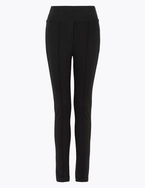 Kadın Siyah Jarse Skinny Ankle Grazer Pantolon