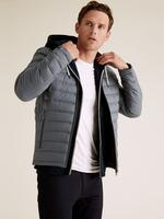 Gri Hafif Kaz Tüyü (Down ve Feather) Mont (Stormwear™ Teknolojisi ile)