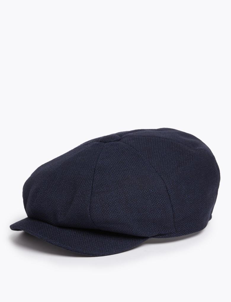 Erkek Lacivert Thermowarmth™ Dokulu Şapka