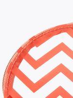 Kozmetik Kırmızı Desenli Şeffaf Makyaj Çantası