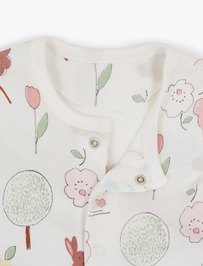 Bebek Pembe 2'li Desenli Tulum Seti