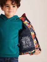Erkek Çocuk Yeşil Kapüşonlu Dinozor Desenli Mont (Stormwear™ Teknolojisi ile)