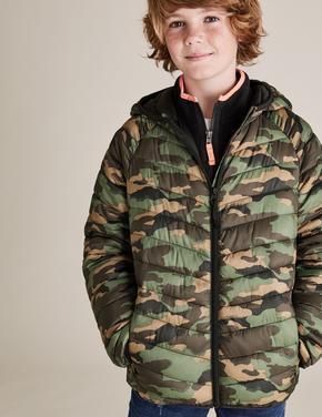 Erkek Çocuk Yeşil Kapüşonlu Mont (Stormwear™ Teknolojisi ile)