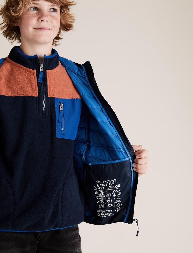 Erkek Çocuk Lacivert Kapüşonlu Mont (Stormwear™ Teknolojisi ile)